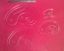 Arc & Curve 8 Piece Template Set For Leather Craft Larger Sizes 5-8