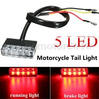 Mini 5 LED 12V Feux Arrière Stop Freinage Lampe Lumière Rouge 12V Moto VTT Bike
