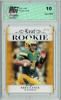 Trey Lance 2021 Leaf Exclusive Gold 25 Made Rookie Card PGI 10 Kyle Trask Error