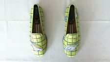 """RARE! Mens $525 Stubbs & Wootton Lime Green """"ACUARIO"""" Loafers Slippers Shoes 10"""
