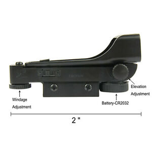 """Red Dot Reflex Sight w/ 3/8"""" Dovetail and 20mm Picatinny Mount for Airgun"""