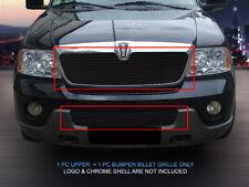 03-04 Lincoln Navigator Black Billet Grille Grill Combo Insert Fedar
