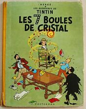 Tintin Les 7 Boules de Cristal HERGE éd Casterman B 30 1961
