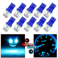 10X Canbus Error Free T10 W5W 5SMD 5050 LED Ice Blue Car Wedge Light Bulb