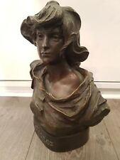 Buste 'La forez' en bronze, signé Madrassi