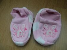baby booties / slippers pink Bunny Rabbit age 6-12 months