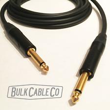 6' Mogami 2524 Guitar Cable - Neutrik Np2X-B - Straight Connectors - St/St Ends