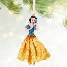 Disney Store Authentic Snow White w/ Bluebird Dress Christmas Ornament Figure