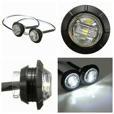 2 pcs 12V White LED Side Marker Light Indicator Lamp Truck Trailer Caravan Lorry