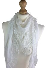 WOMEN LACE SCARVES EMBROIDERED  QUALITY NECKERCHIEF PASHMINA SCARF EVENING WRAPS