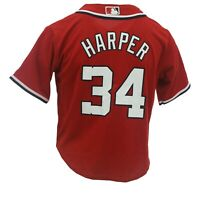 Washington Nationals MLB Majestic Cool Base Youth KIDS Size Harper Jersey New
