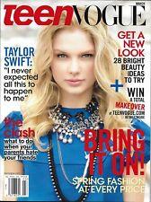 Teen Vogue magazine Taylor Swift Spring fashion Fashion bloggers Ed Westwick