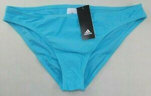 adidas Women's Bikini Bottoms XL Agua Solid Hipster Swim Brief Logo New MSRP$48