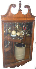 Vintage Mahogany Bevelled Mirror - Chippendale Style w/ fret work -Made in 1944