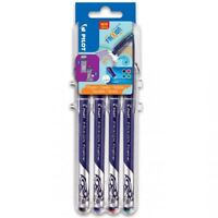 Pilot Frixion Fineliner Marker Pens - 1.3mm - Evolutive Set - 4 Pack (BK,BL,R,G)