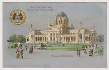 Worlds Fair St Louis 1904 Exhibition postcard - Missouri State Building