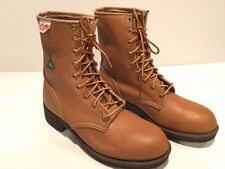 """New Men's original KINGTREADS Black Diamond 8"""" tan safety boots 7 MADE IN CANADA"""