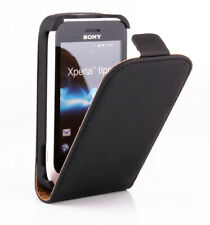 Sony Xperia Tipo Hülle Tasche Flip Case Schutz Etui Cover schwarz