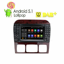"""Android 5.1 Stereo 7"""" DVD GPS Navigation For Mercedes Benz S-W220 S500 S430 S320"""