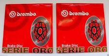 BREMBO 2 DISCHI FRENO ANTERIORI SERIE ORO per YAMAHA YZF R1 1000 2001 2002 2003