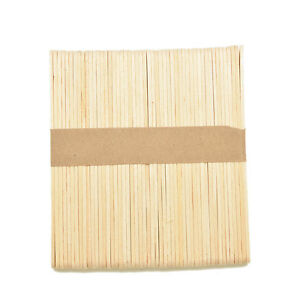 50X Large Wooden Popsicle Sticks Kids Hand Crafts Ice Lolly DIY Making Toys BDNI