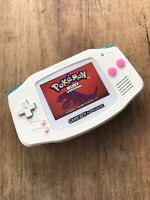Nintendo Gameboy Advance GBA White Pink Handheld Gaming Console BACKLIT IPS 2