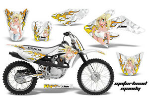 Dirt Bike Graphics Kit Decal Sticker Wrap For Honda CRF70 2004-2015 MOTOMY WHITE