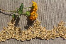1m Golden Yellow Corded Scalloped 5cm Trim Lace Dance Costume Ballet Tutu Sew
