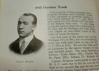 1916 Notre Dame Yearbook Knute Rockne Track Coach Fighting Irish