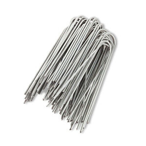 50Pieces Garden U-Type Nails Landscape Staples Yard Lawn Tent Turf Stakes