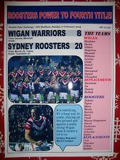 Wigan Warriors 8 Sydney Roosters 20 - 2019 World Club Challenge - souvenir print