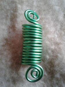 green wire Dreadlock jewelry, braid/hair accessories, Hair/Braid/Dread beads