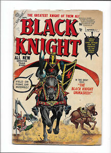 "BLACK KNIGHT #3 [1955 VG+] ""THE BLACK KNIGHT UNMASKED!""   MOVIE SOON?"