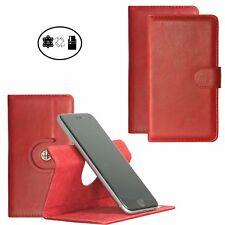 Handy Hülle | Motorola Moto X4 | 360° Case | Echt Leder | 360 L Leder Rot