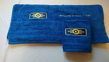 Fallout Inspired Vault-tec themed hand towel face cloth set bathroom game geek