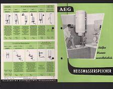 BERLIN, Prospekt 1956, AEG Allgemeine Electrizitäts-Gesells. Heisswasserspeicher