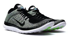 NIKE Womens Free 4.0 Flyknit Running Shoe MISMATCH US 6.5/6 Black Green $120