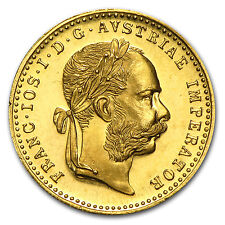 Special Price 1915 Austria Gold 1 Ducat Brilliant Uncirculated BU Prooflike Coin