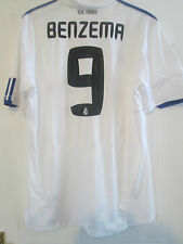 Real Madrid 2010-2011 Home Benzema 9 Football Shirt Size XL Adult /40659