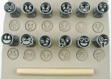 Pottery texturing ceramic clay tools: Rélyéf set of emoji stamps 15 mm No.1