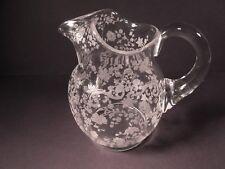 Rarely Seen Chantilly 20 Ounce Milk Pitcher / Cambridge Glass Co