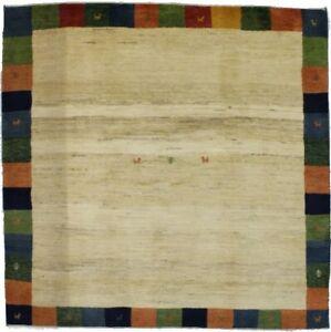 Contemporary Square Plush Gabbeh 7X7 Bordered Modern Oriental Rug Decor Carpet