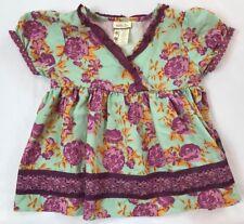 Matilda Jane Girls Size 4 Yrs Secret Fields Lilac Bouquet Wrap Floral Top Shirt
