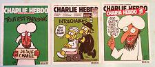 3 CHARLIE HEBDO french magazine  very rare No 1011+1057+1178!!! FREE SHIPPING!