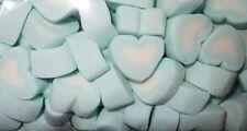 BLUE & WHITE HEART MARSHMALLOW 1kg Lollies Candy Buffet Wedding Party Frozen