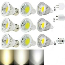 Ultra Bright MR16 GU10 E27 Dimmable 6W LED COB Spot Light Bulbs