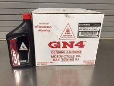 GENUINE HONDA GN4 SAE 10W40 OIL CASE OF 12 1 QT 32OZ BOTTLES