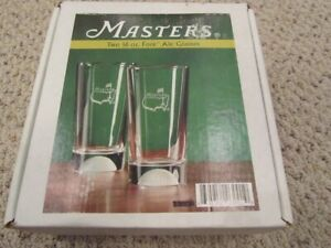 New Masters Augusta National Fore 16 Oz Ale Drinking Glasses 2 (Golf Ball)