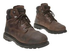 WOLVERINE Work Boots 12 EE/EW Mens Brown Leather Waterproof Warehouse Work Boots