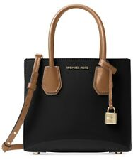 NWT Michael Kors Black Patent Leather Studio Mercer Medium Messenger~MSRP $228